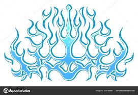 Frozen Ice Tribal Blue Flames Sticker Hood Car Bike Vehicle Stock Vector C Parmenow 256148358