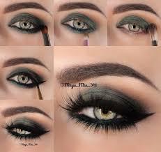 army green eye look i love cute