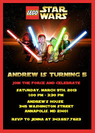 Lego Star Wars Birthday Party Invitation By Sleepingowlcreations
