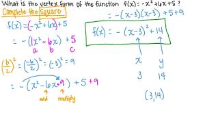 quadratic functions in the vertex form