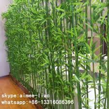 Q092014 Ornamental Plants Artificial Bamboo Fence Outdoor Decoration Bamboo Pole For Garden Artificial Plants Indoor Artificial Plants Artificial Garden Plants