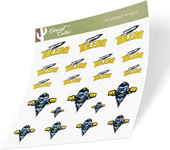 Amazon Com University Of Toledo Ut Rockets Ncaa Sticker Vinyl Decal Laptop Water Bottle Car Scrapbook Type 1 1 Sheet Arts Crafts Sewing