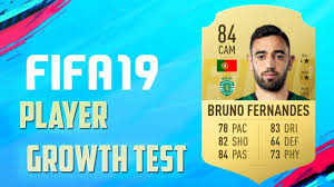 FIFA 19 Bruno Fernandes Growth Test - YouTube