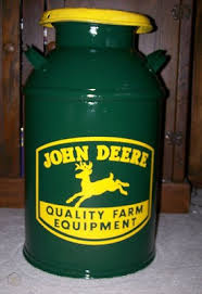 Antique Vintage Large 10 Gallon Milk Can Fresh Painted John Deere Decal 438819970