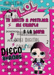 Invitacion Digital Imprimible De Lol Surprise Rock 85 00 En