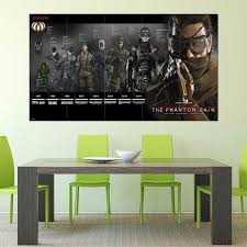 Metal Gear Solid 5 The Phantom Pain Snake Timeline Block Giant Wall Art Poster