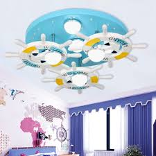 Anchor 7 Light Ceiling Lights Multi Colored Metal And Wood Ceiling Light Fixtures Kids Room Lighting Beautifulhalo Com