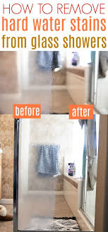 hard water stains from glass showers
