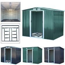 in garden storage shed metal pent