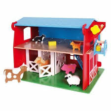 playset wooden big red barn