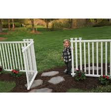 Zippity Outdoor Products 4 3 Ft W X 3 Ft H White Vinyl Baskenridge Fence Gate Zp19038 The Home Depot