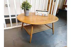 coffee table with rack in elm