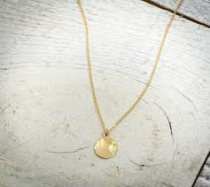 hammered circle pendant hammered gold