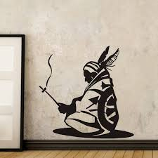 Native American Wall Decal Vinyl Stickers Indian Iroquois Wall Stickers Home Decor Living Room Wish