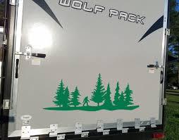 Bigfoot Treeline Forest Scene Vinyl Decal V3 Camper Rv Travel Trailer Graphics 4x4 Die Cut Sticker