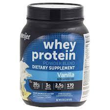 meijer vanilla whey protein powder 2