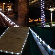 16 5ft Solar Power 50 Led Rope String Lights Waterproof Christmas Tree Lights For Wedding Party Garden Patio Outdoor Decoration Lights For Wedding String Lightstree Light Aliexpress
