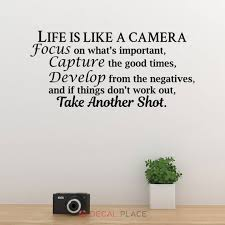 Life Is Like A Camera Photo Family Art Wall Decal Quotes Etsy