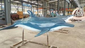 life size dolphin anatomy statue