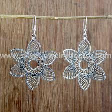 whole plain silver jewelry earring