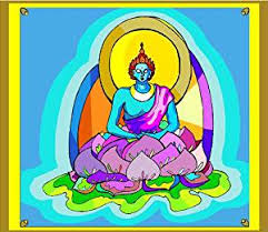 Buy Buddhism Buddha Sitting On A Purple Lotus Flower Vinyl Stained Glass Film Static Cling Window Decal In Cheap Price On Alibaba Com