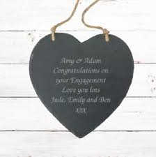 hanging heart slate gifts ideas