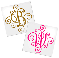 Fancy Letter Decal Vinyl Decal For Cup Car Or Laptop Decals By Adavis