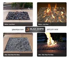 comparing lava rocks and fire glass