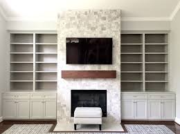 propane fireplace on interior wall