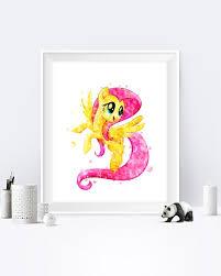 My Little Pony Fluttershy Wall Art Fluttershy Print My Little Etsy