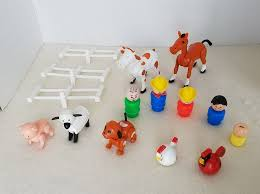 Vtg Fisherprice Little People 915 Farm Animals Fence Lot Toys Amp Hobbies Preschool Toys Amp Pretend Play F Farm Animals Little People Preschool Toys