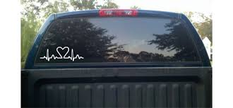 Ekg Heartbeat Car Decal Truck Decal Window Decal Vinyl Etsy