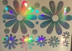 Large Daisy Daisies Flower Rainbow Holographic Car Decal