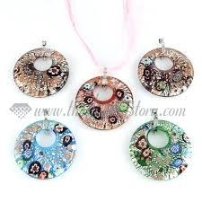 murano glass pendants lights pink