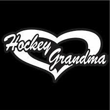 Hockey Grandma Decal Hockey Grandma Heart Car Window Decal Etsy