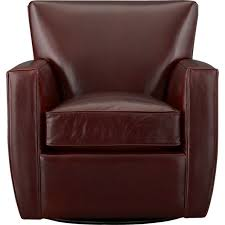 streeter leather swivel chair in chairs