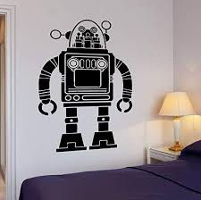 Amazon Com Wallstickers4you Wall Decal Robot Transformer Funny Cool Decor For Living Room Z2615 Home Kitchen