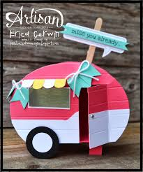 Preciosa Caravana Valentines Gift Card Cards Handmade Shaped Cards
