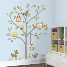 Shop Woodland Fox Friends Tree Peel And Stick Wall Decals Overstock 9722887