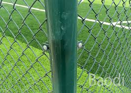Green Color Cyclone Chain Link Mesh Fence 1 5mm 4mm Wire Packed In Roll