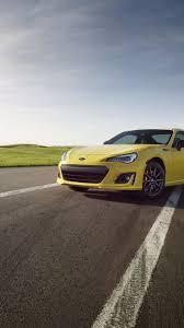 subaru brz series yellow sport cars
