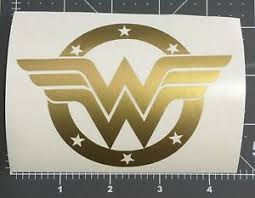 1 X Gold Wonder Woman Car Sticker Ebay
