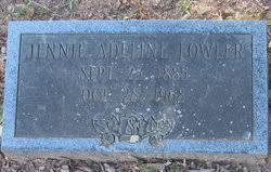 Jennie Adeline Fowler (1885-1968) - Find A Grave Memorial