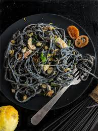 Squid Ink Pasta with Smoked Salmon ...