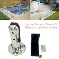 round stair glass spigots pool fence