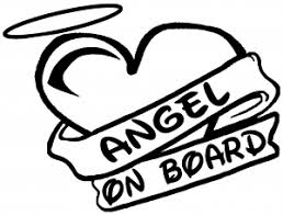 Angel On Board Heart And Halo Car Or Truck Window Decal Sticker Rad Dezigns