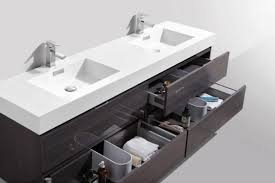 bliss 80 double sink high gloss gray