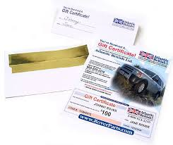 land rover gift certificate perfect