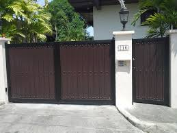 Wooden Fence Design Philippines Steel And Wood Gate Cavitetrail Glass Railings Philippines Tempered Glass Wrought Iron Woodsinfo