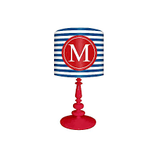 Blue And Red M Striped Monogram Kids Table Lamp 3c510 Lamps Plus
